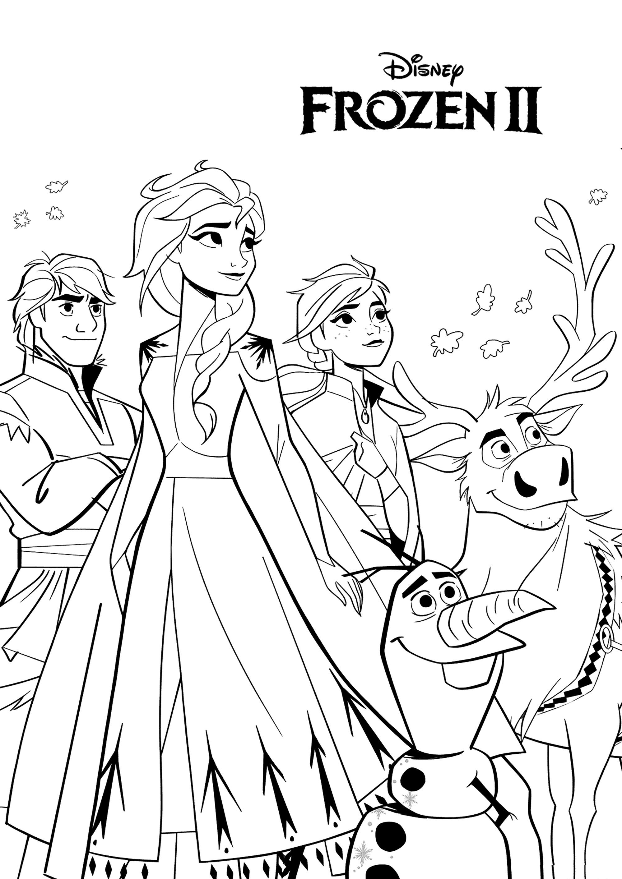 Frozen 2 To Print Incredible Frozen 2 Coloring Page To Print And Color For Free From The Gal In 2020 Elsa Coloring Pages Detailed Coloring Pages Cute Coloring Pages