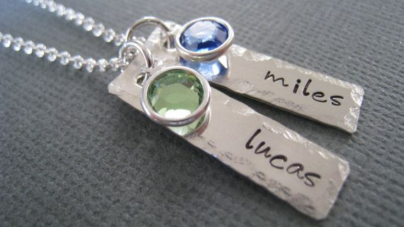 Hand Stamped Mommy Necklace Personalized Sterling by hiphophippos, $38.00