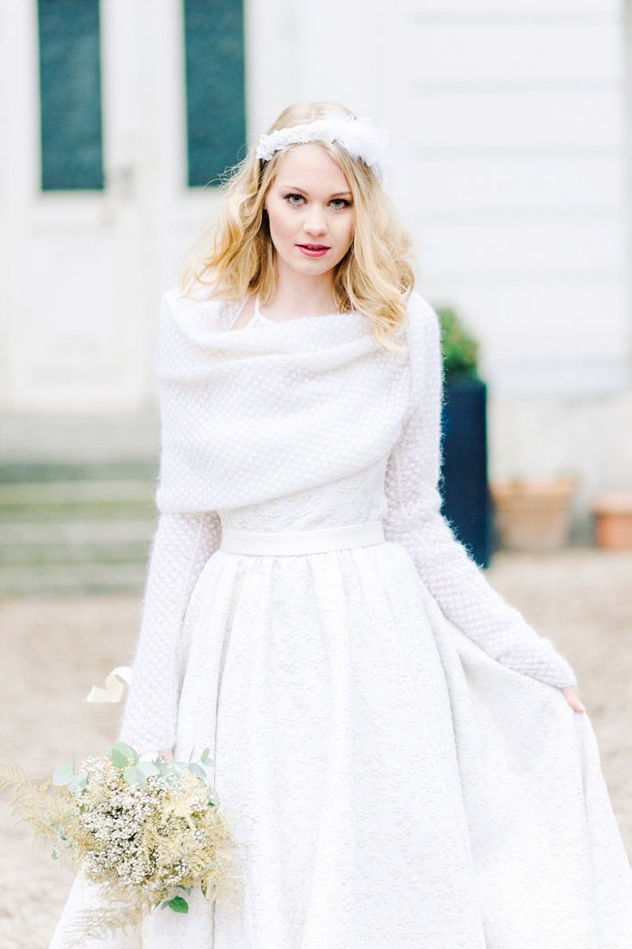 Brautkleid Mit Strickbolero Pinteres - Civil Wedding Dresses