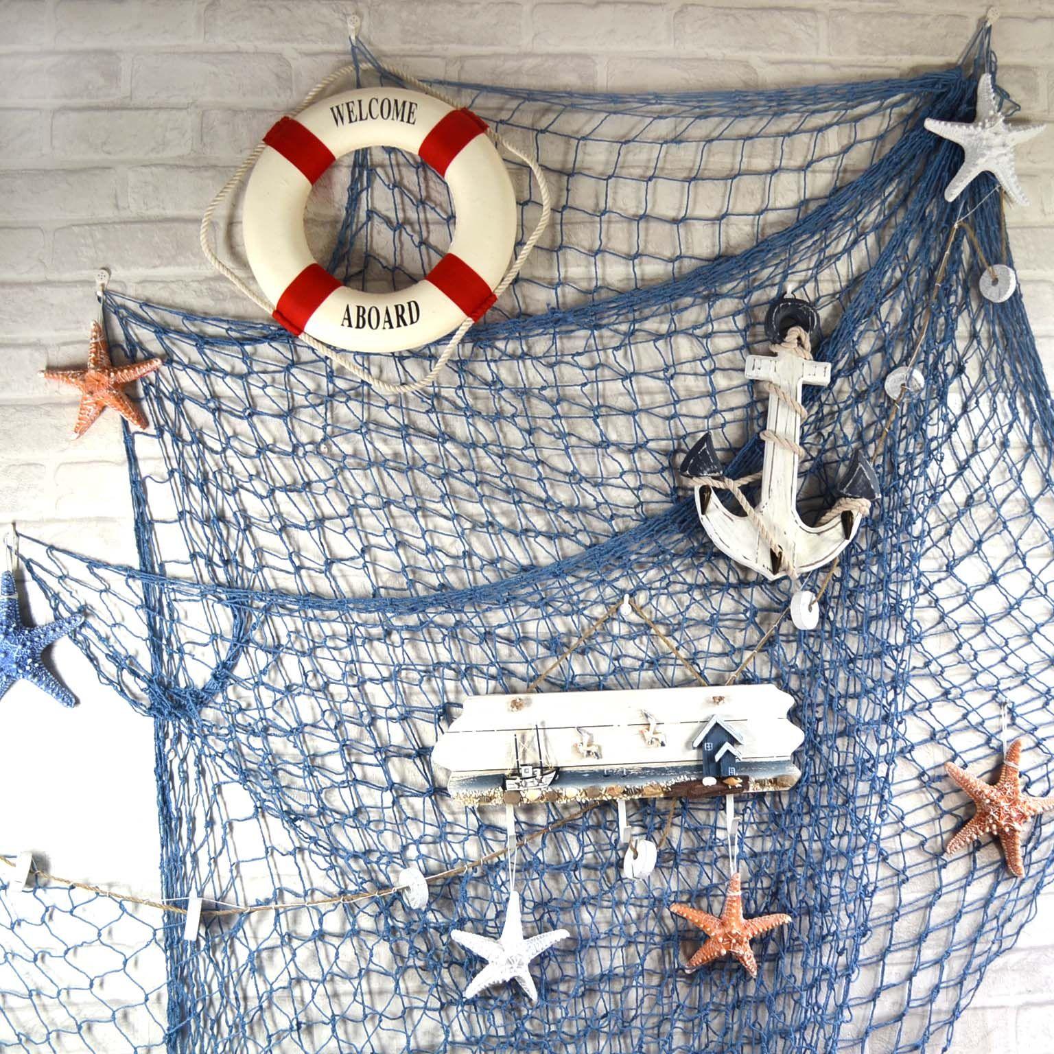 Beach Theme Decorations For Home: Fish Net Decor, Fishnet, Ocean House