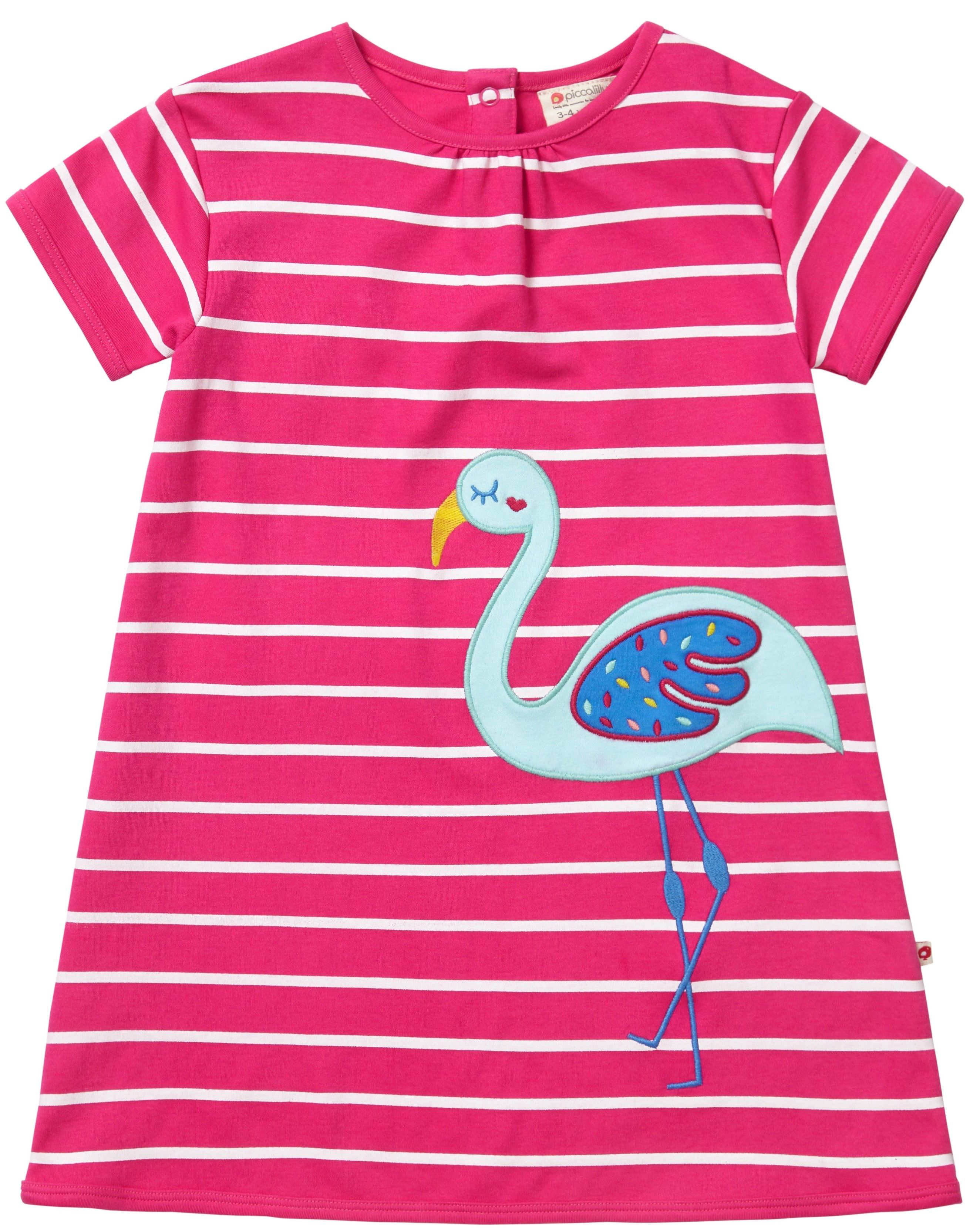 Blue Rainforest Print Piccalilly Baby Dress with Integrated Bodysuit Organic Cotton Soft Jersey