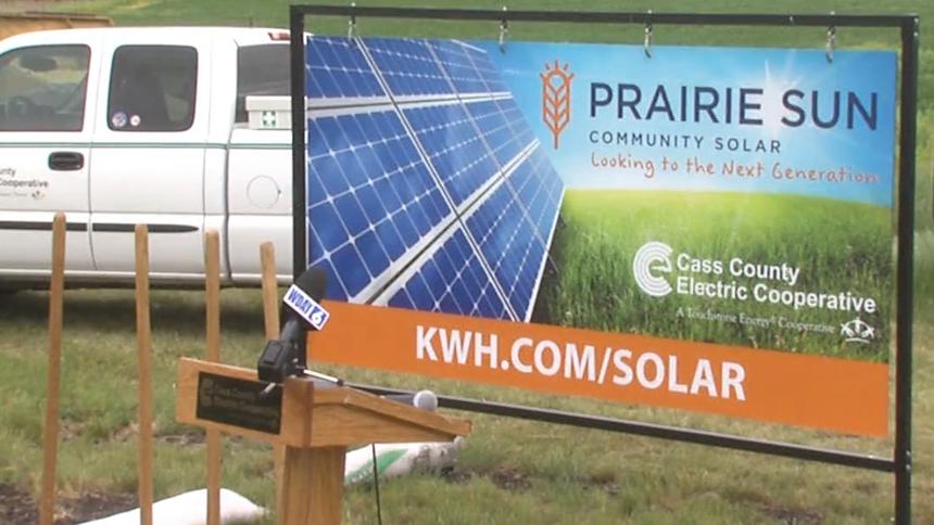 Community Solar Energy System Breaks Ground In Fargo Solar Solar Technology Solar Energy Projects