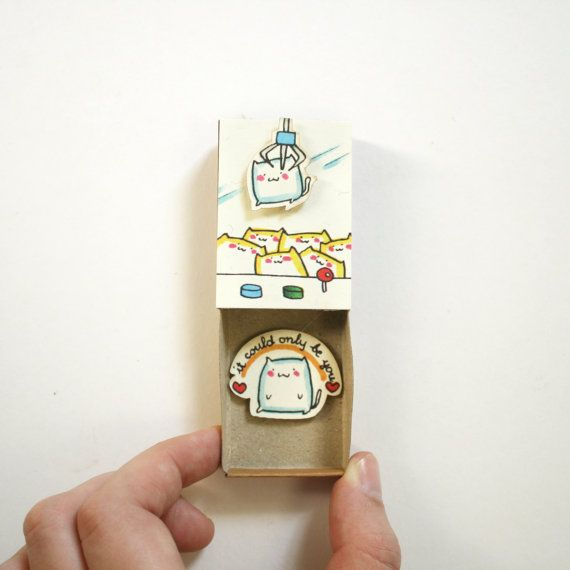 Romantische Arcade-Liebeskarte / süße Retro-Geschenk für sie / einzigartige Valentinstag Geschenk / Es könnte nur Sie sein Matchbox Geschenk-Box / OT092
