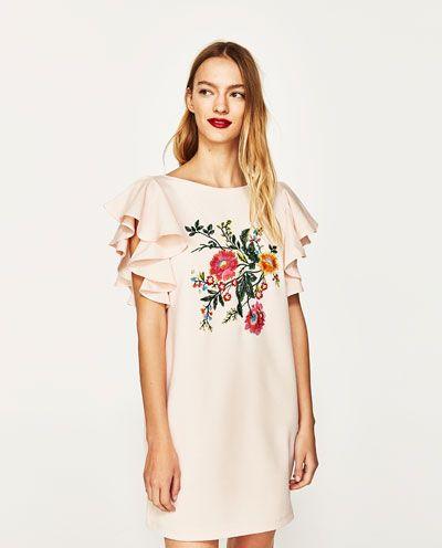 Combinado Bordado ZaraEstilo Imagen Vestido De 2 Floral mnvNw08O