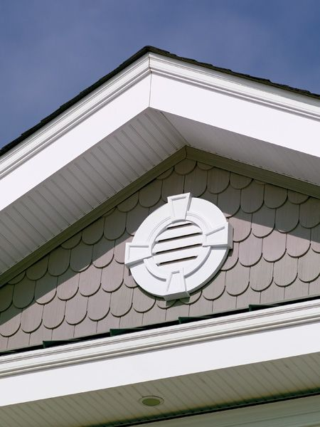 Love this style of gable vent with the keystones www Fypon molding