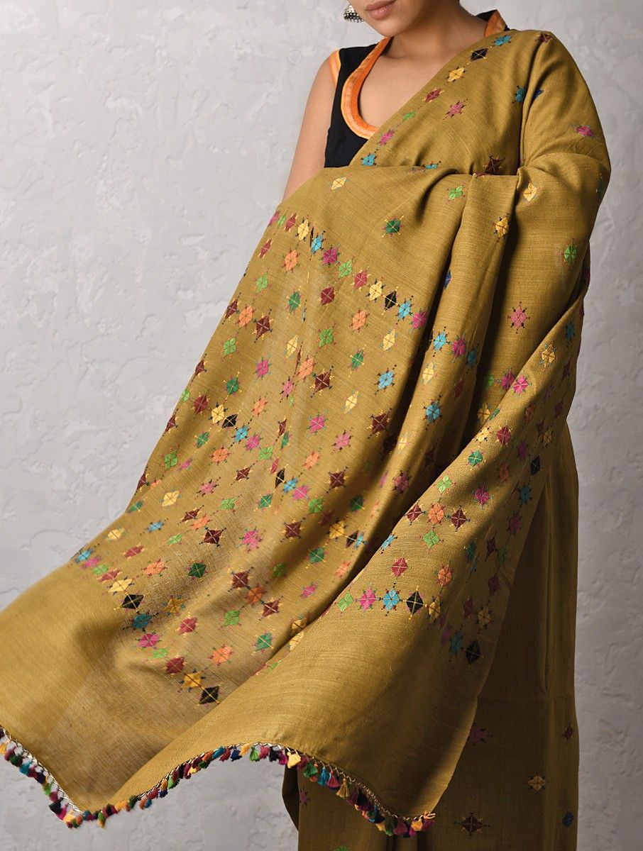 Buy Brown Multicolor Silk Saree With Suf Embroidery Online In 2019