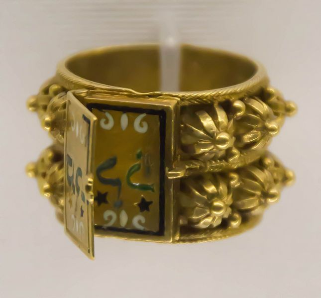 Jewish wedding ring gold 18th 19th c italy This work is courtesy of