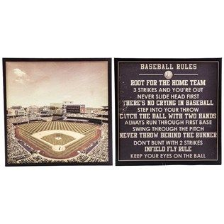 Room Take Me Out To The Ballgame This Fun Baseball Rules Ball Field Canvas Wall
