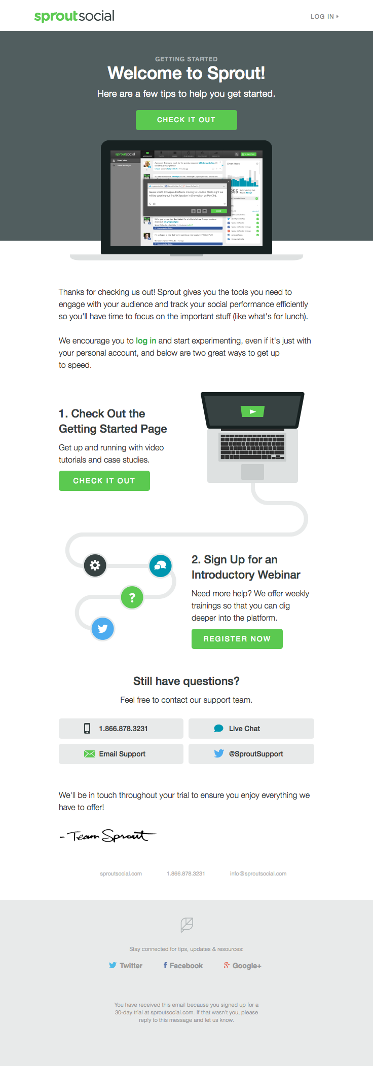 Sproutsocial Sent This Email With The Subject Line Welcome To