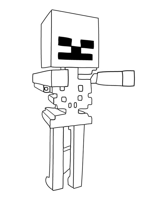 Minecraft Skeleton Coloring Pages Minecraft Coloring Pages Minecraft Skeleton Coloring Pages