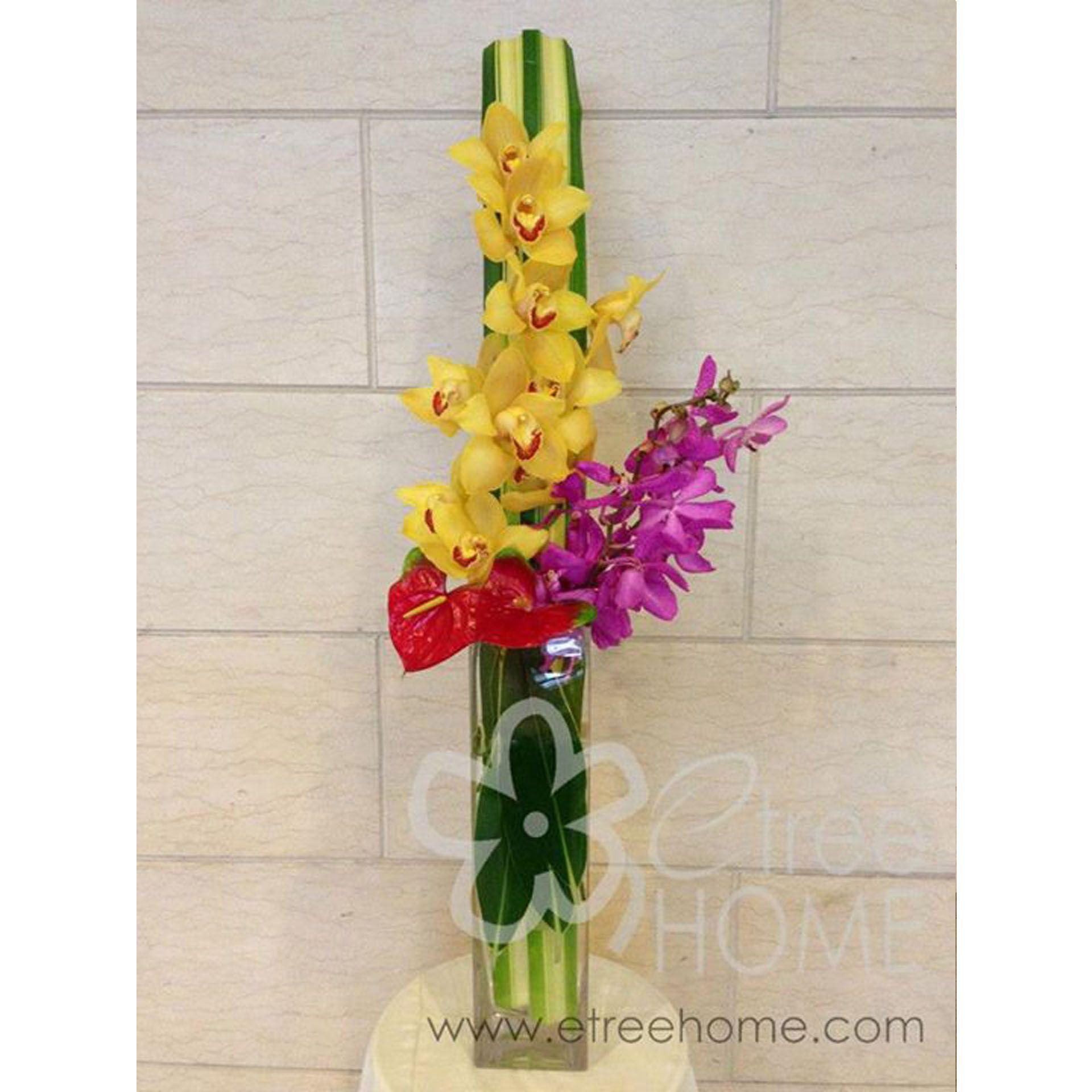 Vase Arrangement  E Tree Home Florist & Plant Rental