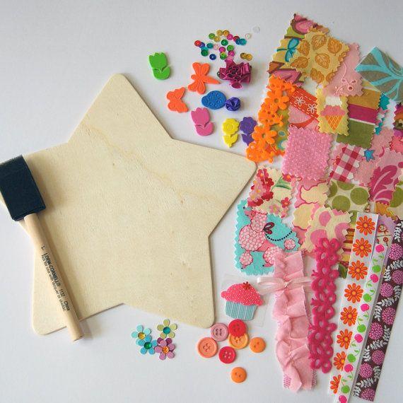 Kids Fabric Collage Craft Kitgreat Birthday Party Idea