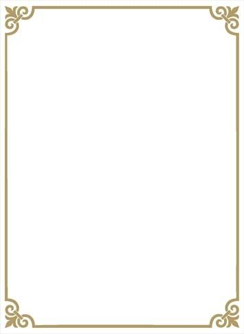 Gold Page Borders Page Borders Design Borders For Paper Border