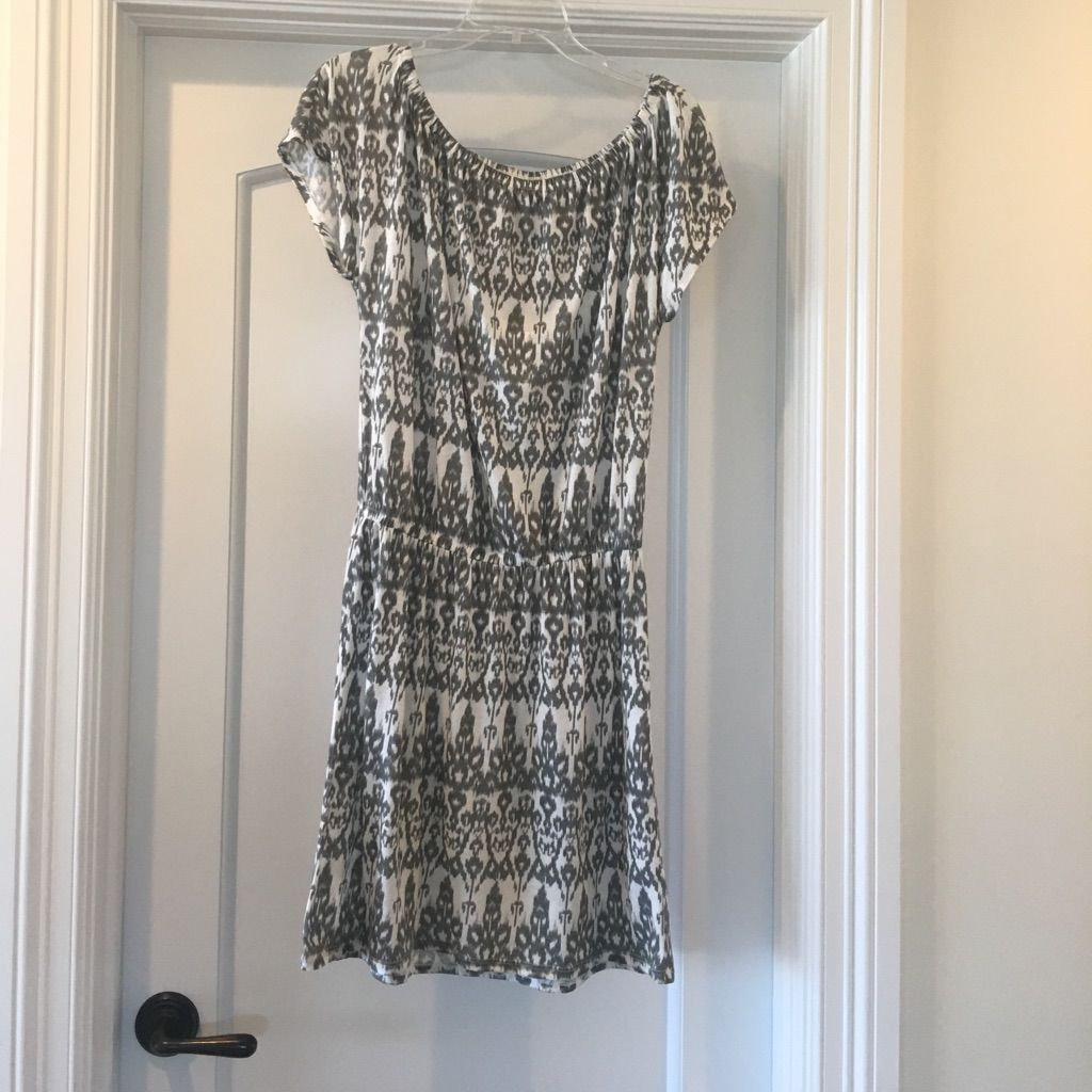 Soft joie nmt gray okay print cotton dress cotton and products