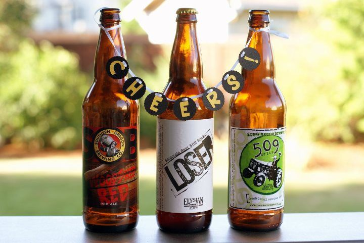 Beer Bottle Decoration Minibunting Banners In Beer Bottles For Decoration  40Th