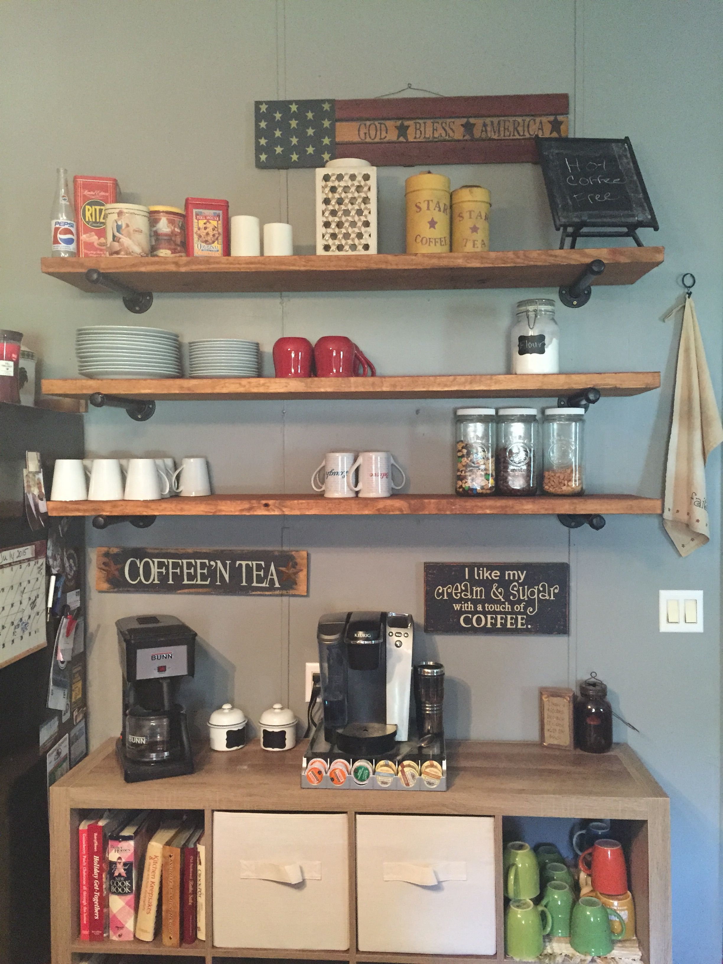 DIY coffee center. Coffee center, Diy coffee, Home decor
