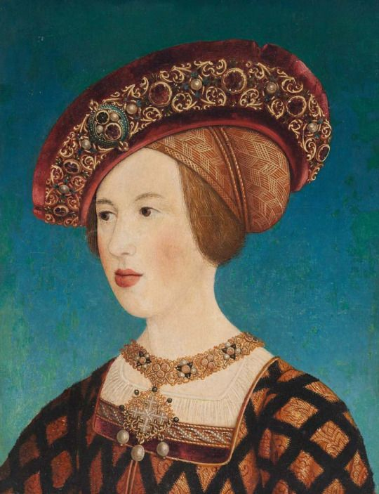 Hans Maler zu Schwaz, Queen Anne of Hungary, 1519. Oil on Wood