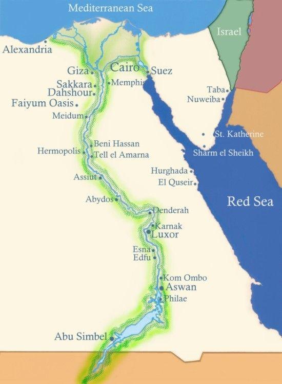 Egypt Tour Alexandria Siwa Giza Luxor Memphis Cairo Places - Map of egypt delta