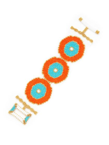 Multicolor Beaded Circle Pattern Bracelet by KEP on Gilt.com