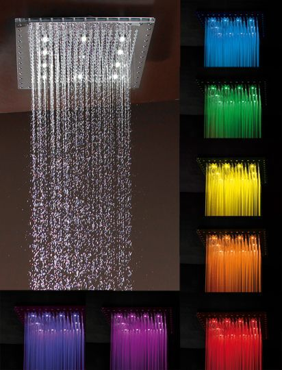 rain shower head with lights. Quadrato Dream Light Chromotherapy Rain Canopy X With 350 Easy  Clean Jets And 12 LED Lights Now This Is Just TOO COOL How Amazing Would It Be To Have A Shower
