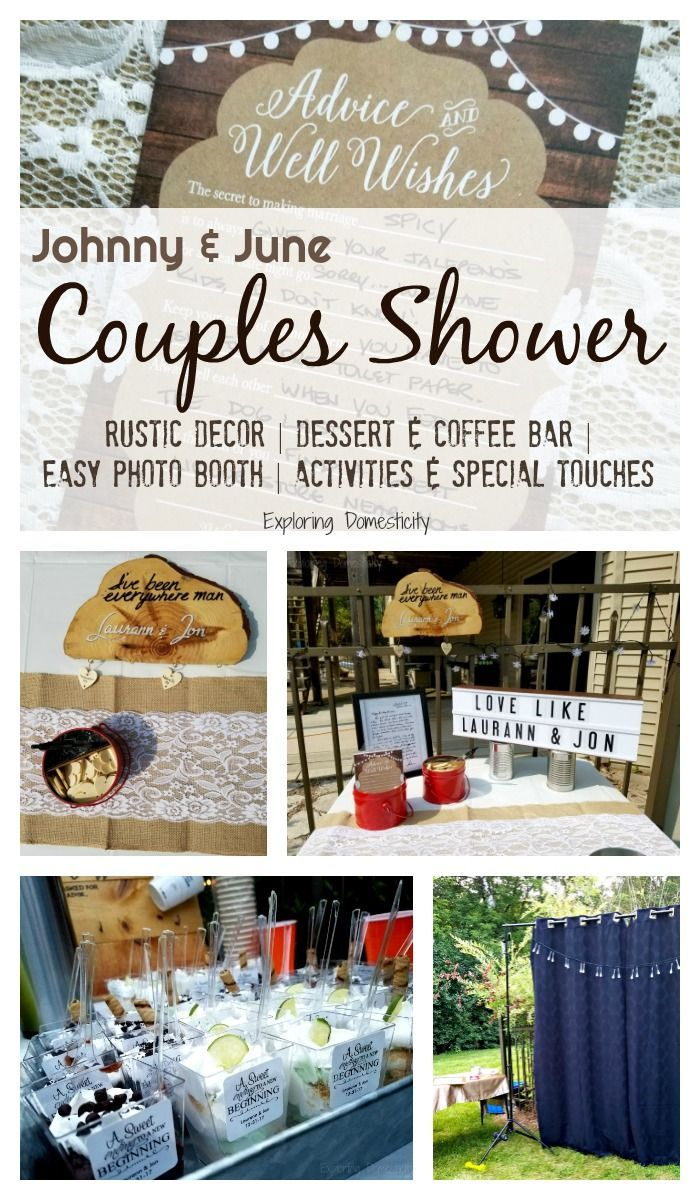 Johnny and June Couples Shower: Rustic shower decor for any shower ...