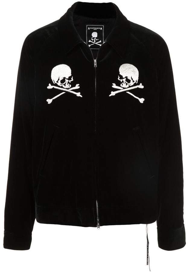 best sell amazon competitive price Mastermind Japan embroidered skull zipped jacket   Products ...