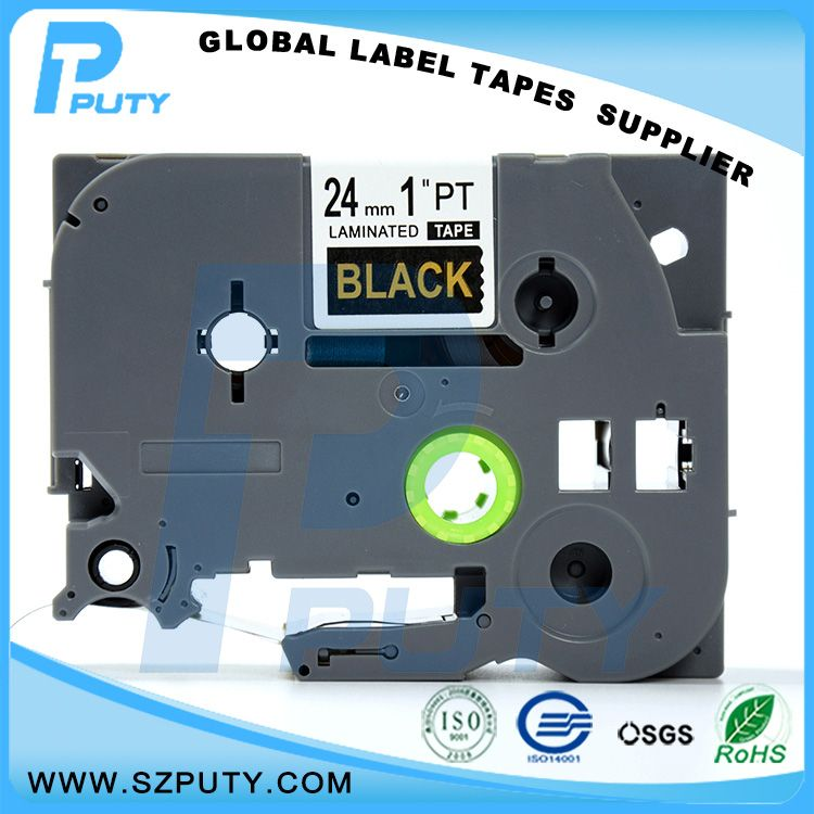 Compatible Gold On Black Tze 354 Tz 354 24mm Laminated Label Tapes For Ptouch Label Printers Label Printer Label Maker Tape Security Labels