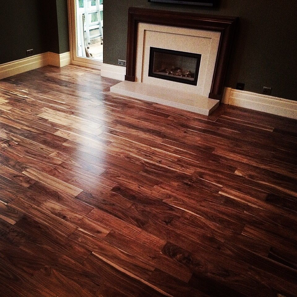Solid blacknut flooring www firstfloors.uk