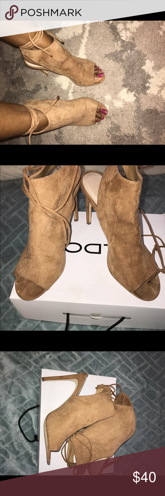 99d0b63d88c4 Open back Aldo booties Comfortable cute perfect for spring will match with  everything I paired it