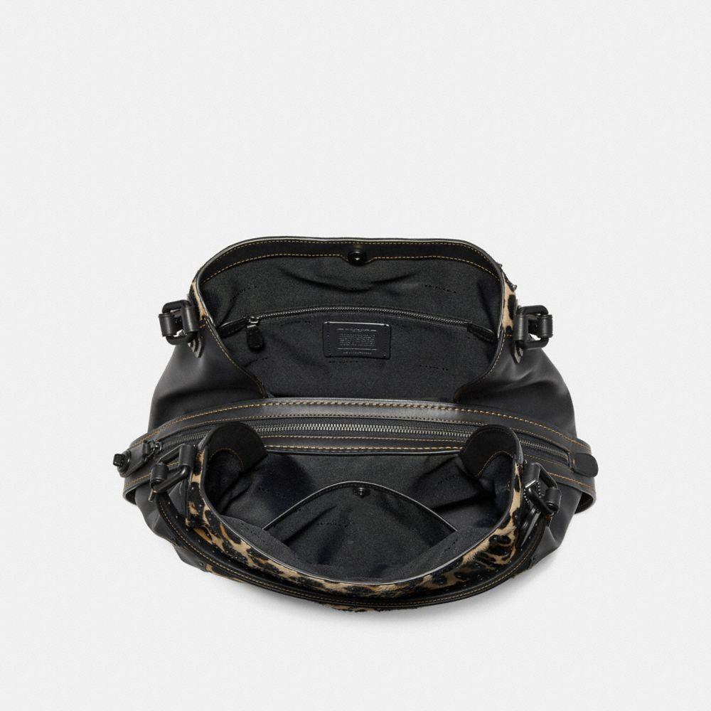 414d797d0926 Coach Edie Shoulder Bag 42 With Embellished Leopard Print - Leopard/Black  Copper