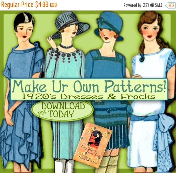 Sew 1920s Downton Abbey Frocks Easy Make by eVINTAGEpatterns
