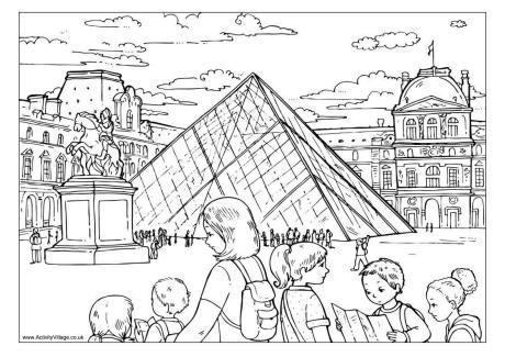 The Louvre colouring page Révolution française, Dessin