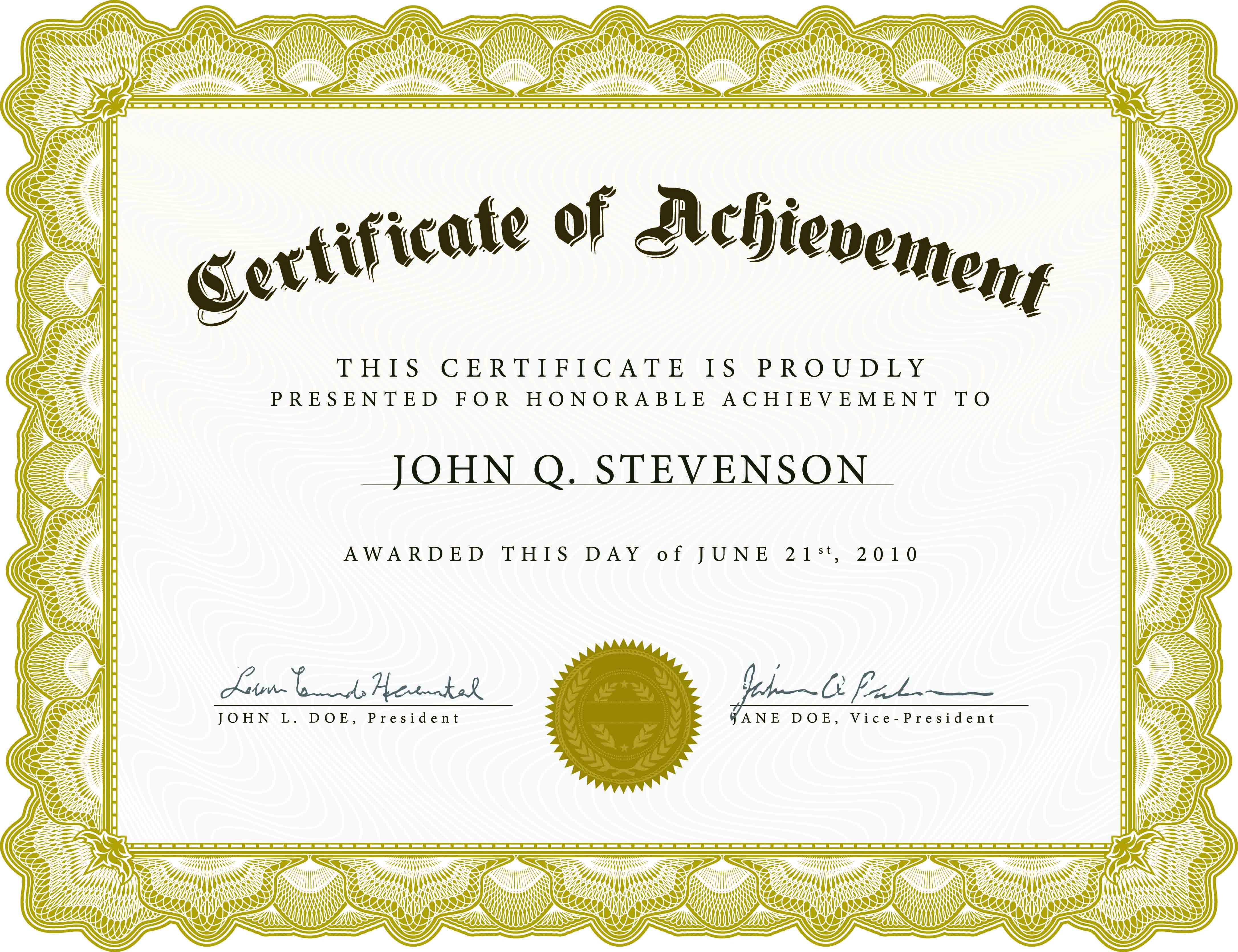 download blank certificate template X3Hr9dTo | St. Gabriel's Youth ...