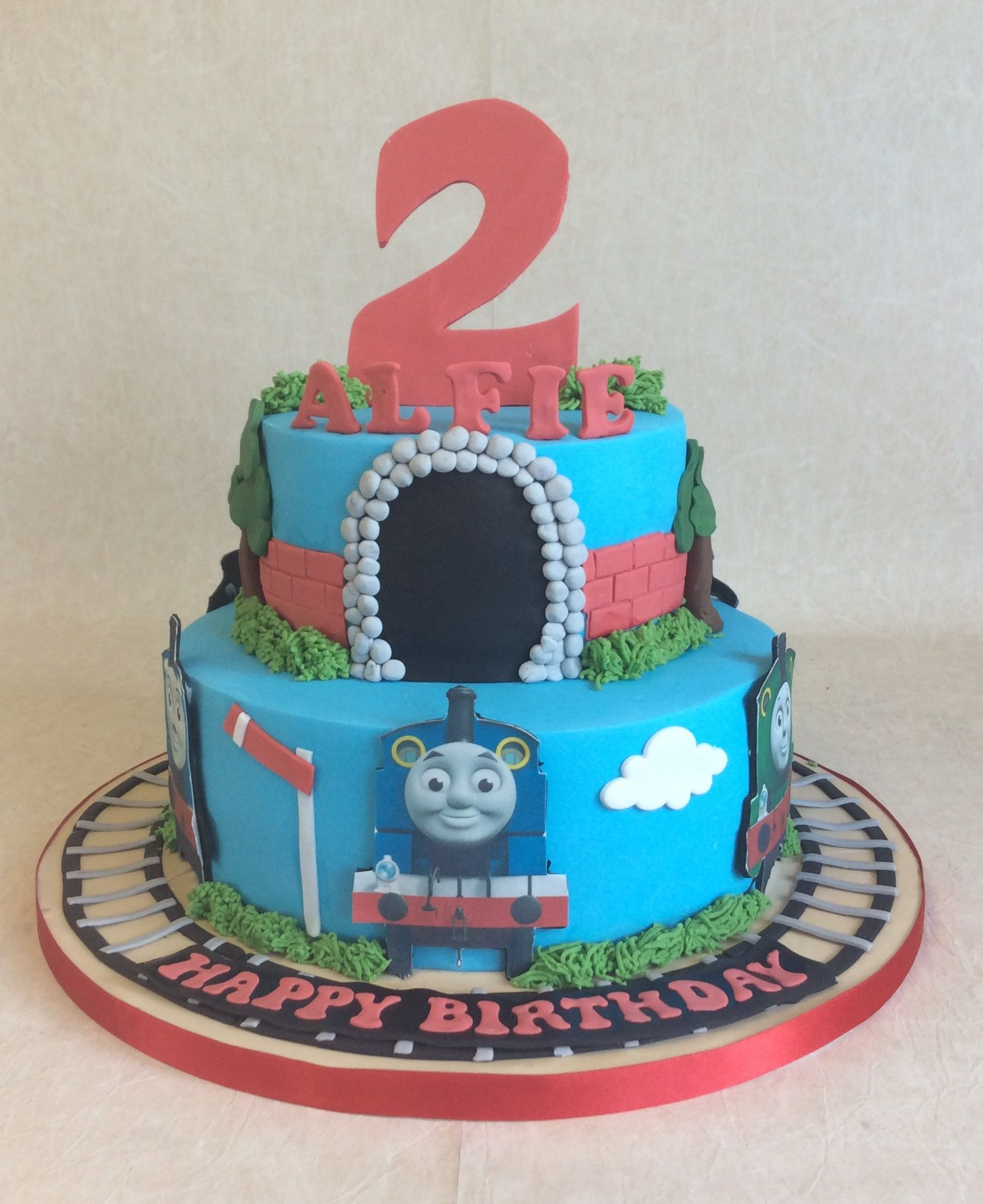 2 Tier Thomas Friends Birthday Cake 6 Different Thomas