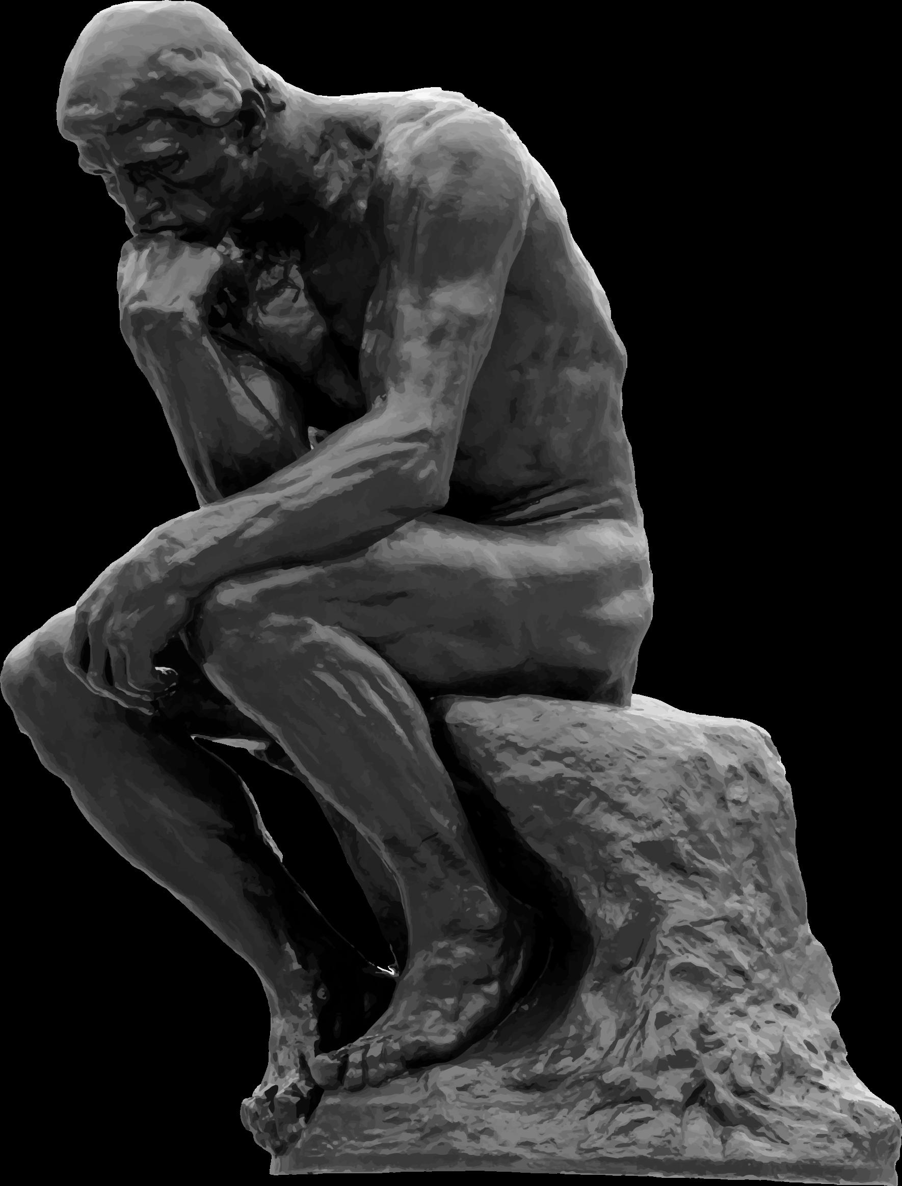 The Thinker Auguste Rodin Grayscale Png 1770 2328 Velikoe Iskusstvo Impressionist Myslitel
