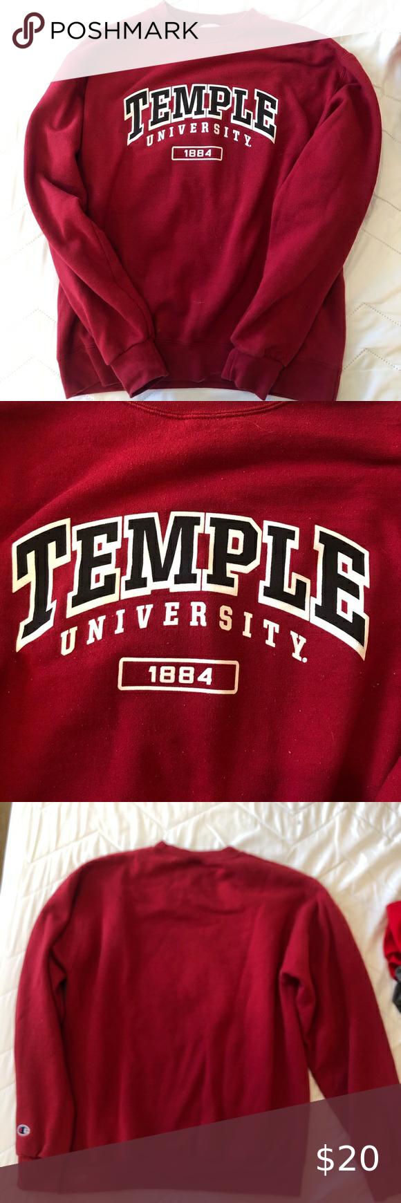 Temple Crewneck Crew Neck Sweaters For Women Women Shopping [ 1740 x 580 Pixel ]