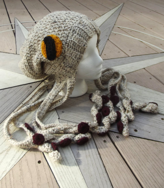 0d33baab456 Crochet Octopus Hat Slouchy Beanie - MADE TO ORDER - customizable color  schemes