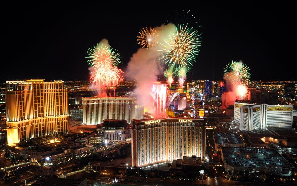 Fireworks New years eve in las vegas, Cheap las vegas