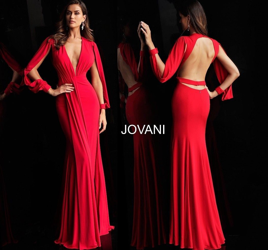 8d34a9c43d9 Details about 2019 COLLECTION ! JOVANI 59912 RED authentic dress ...