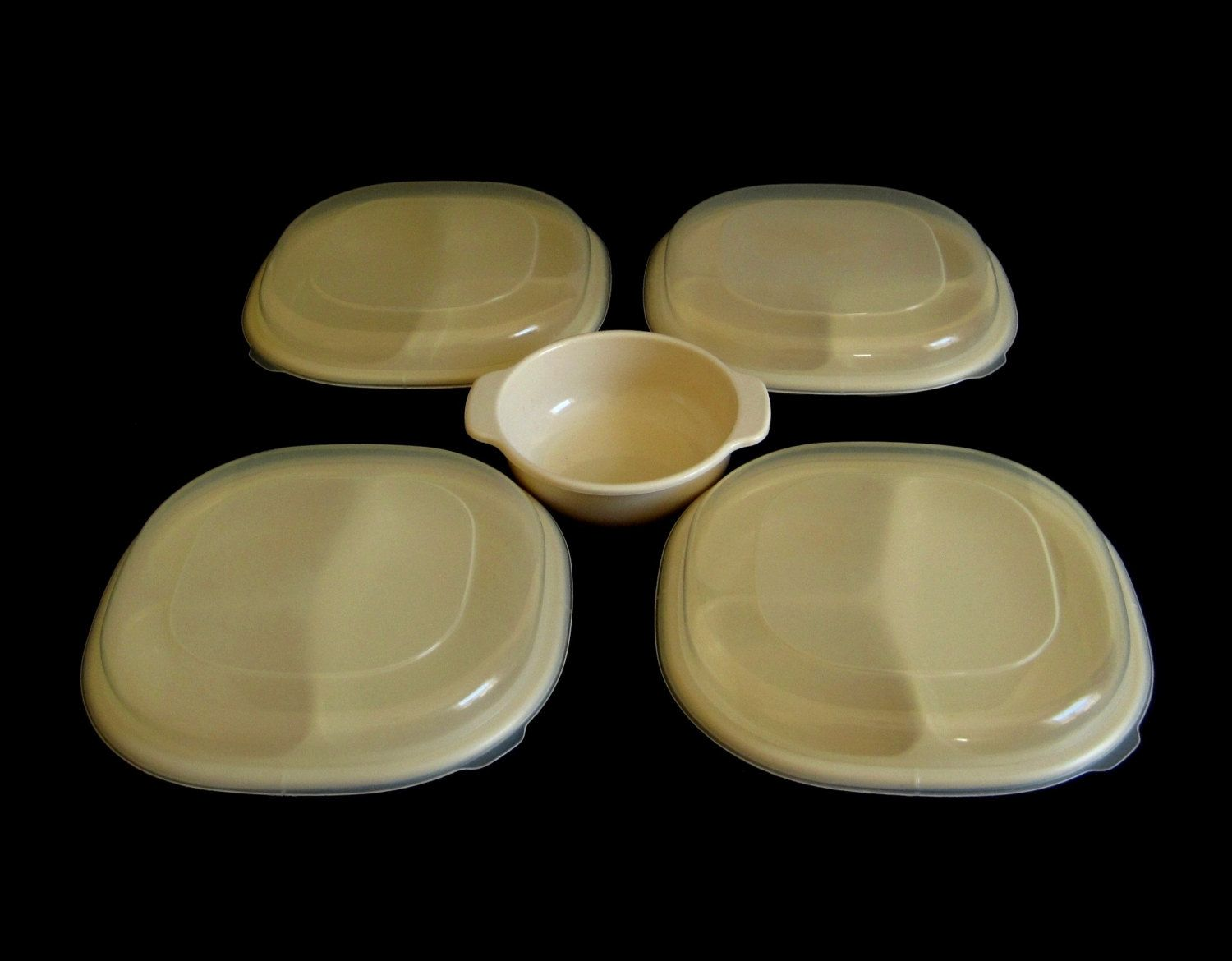 New to LaurasLastDitch on Etsy Rubbermaid Microwave Heatables Divided Plates 0059 Lids 0060 Bowl 0065 Ivory Plastic (19.99 USD) : plastic divided plates with lids - pezcame.com