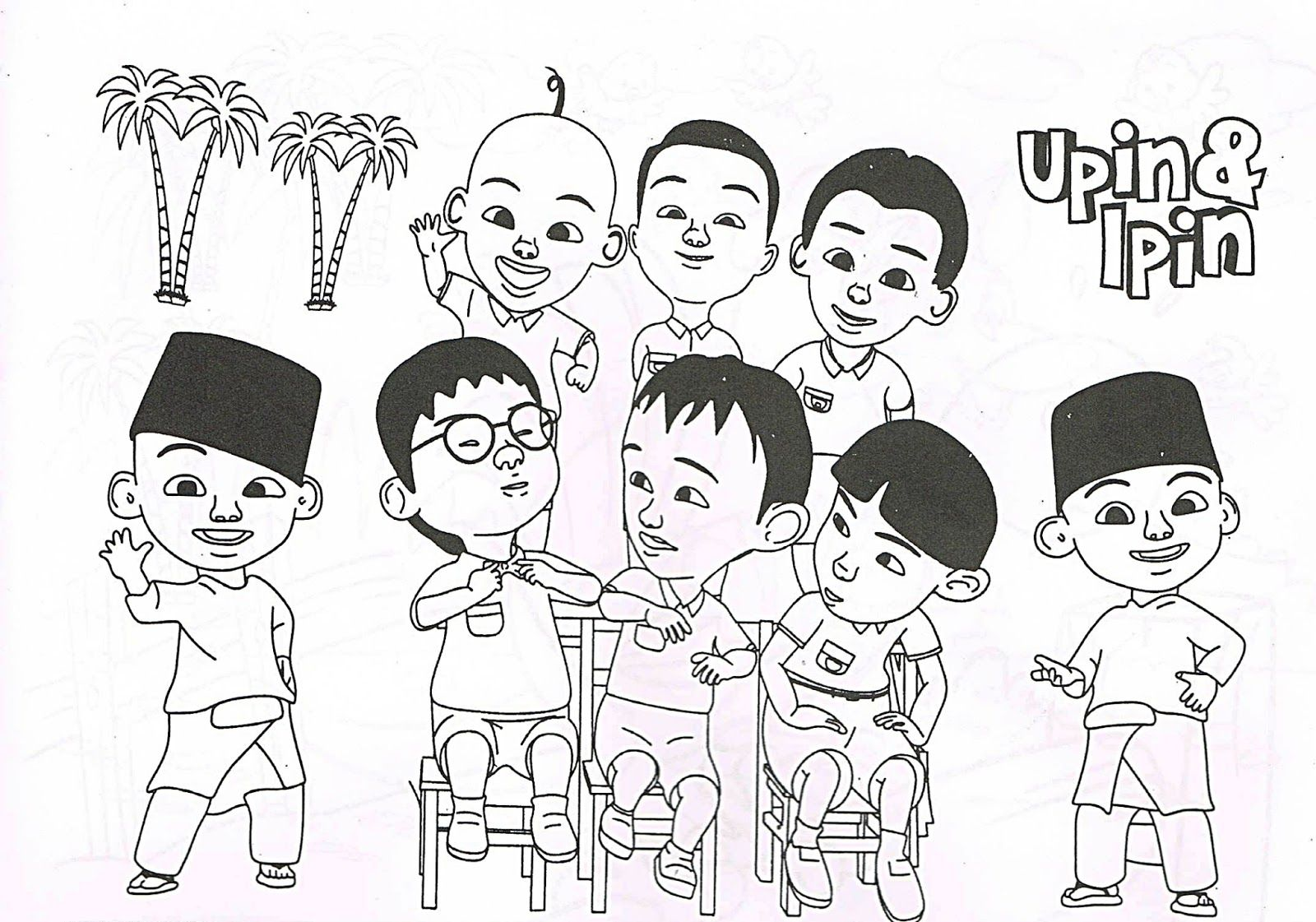Upin Ipin Coloring Pages plete Coloring Pages