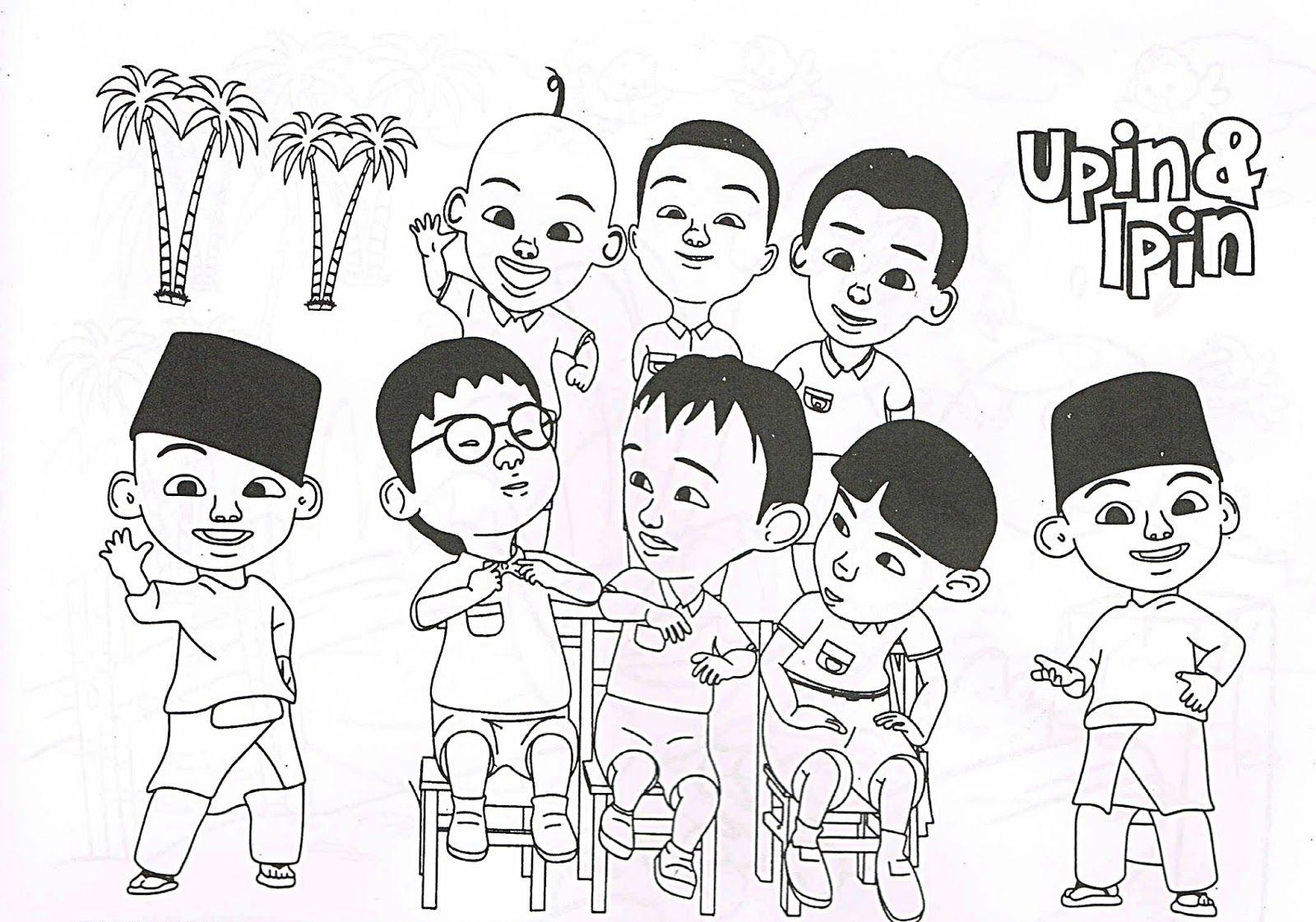 Mari Mewarna Bersama Upin Coloring Pages For Boys