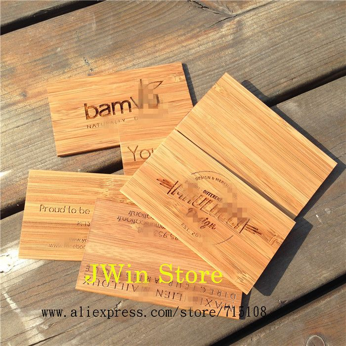 Cheap Price Engraving Wooden Business Card Bamboo Craft Name Card ...