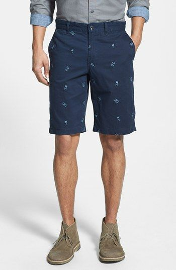 Nautical Flag Embroidered Shorts.