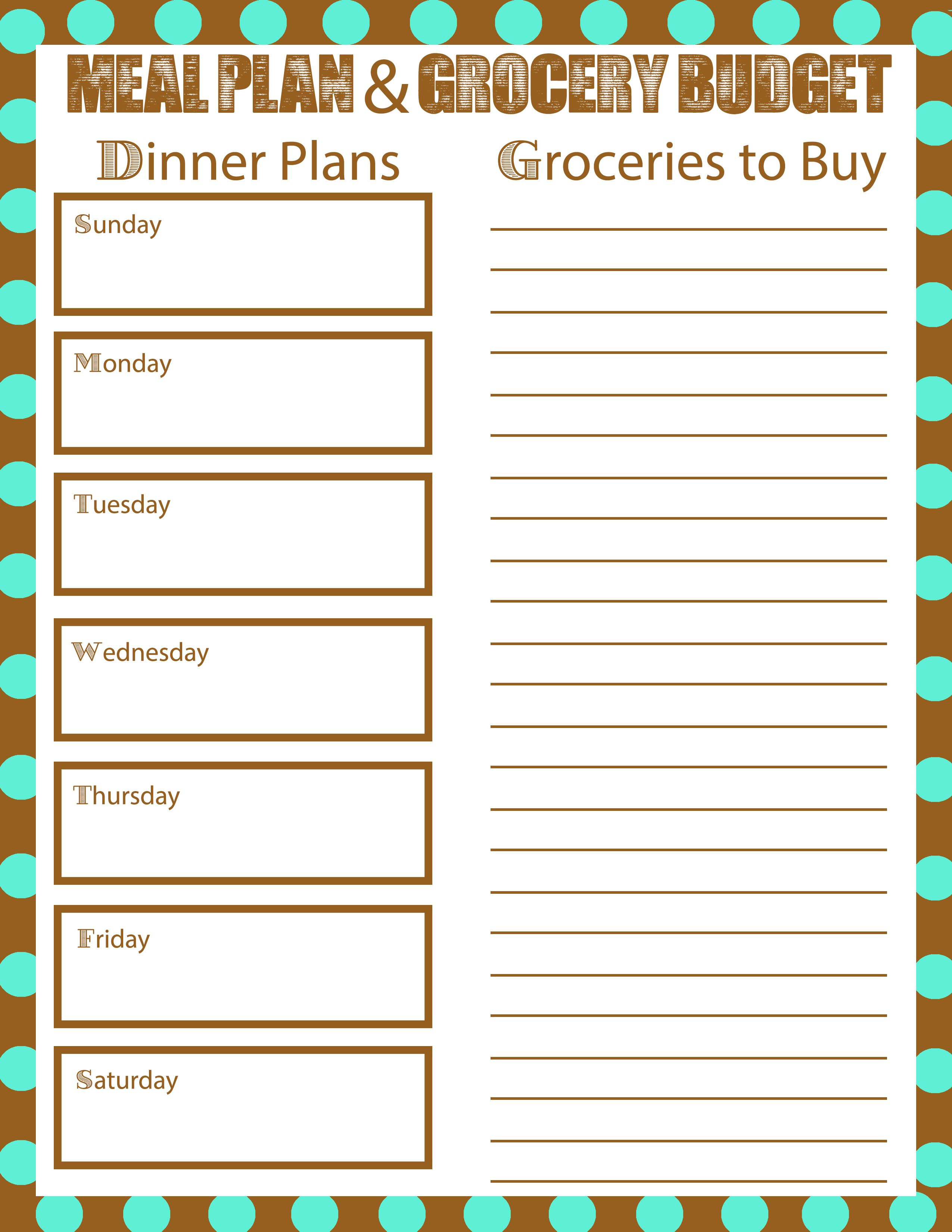 Meal Planning To Bring Your Grocery Bill Down