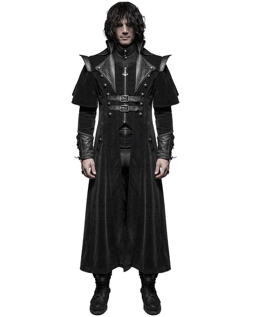 Details about Punk Rave Mens Coat Long Jacket Black Gothic