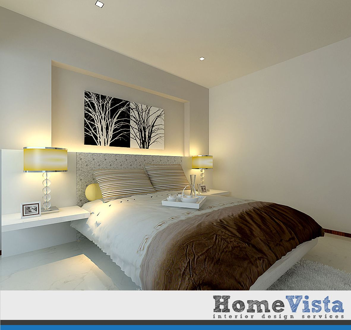 Modern Master Bedroom Design: HDB BTO 4-Room @ Blk 624 Punggol Central