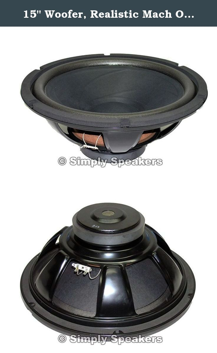 One Car Speaker Not Working : speaker, working, Woofer,, Realistic, W-1500., 3802,, 40-4029,, 40-4032,, 40-4032A,, Optimus, Radio, Shack,, Loudspeaker