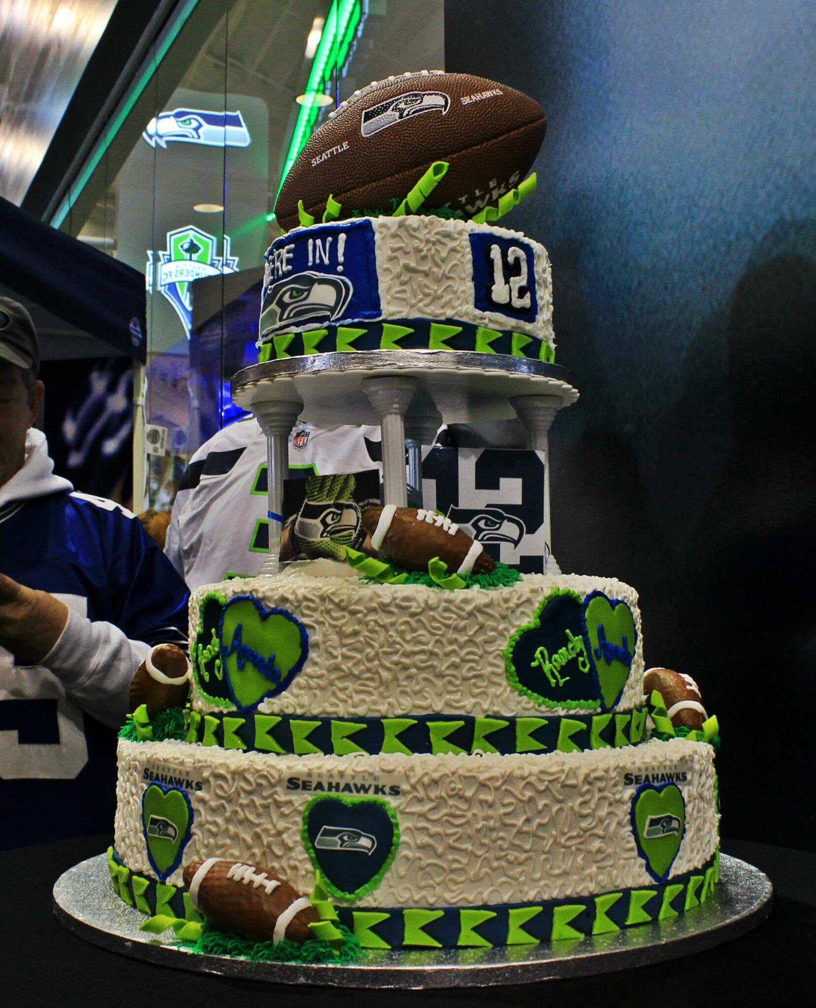 Pin by Jasmine on Seahawks Rule! Zombie wedding cakes