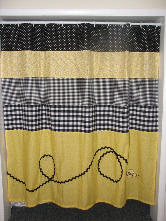 Bumble Bee Shower Curtain By Positivelybiased On Etsy Bee Shower